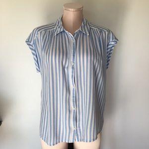 Blue & white stripe Lucky Brand top